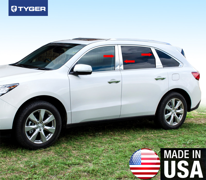 Fit 2007-2013 Acura MDX Stainless Steel Chrome Pillar Post