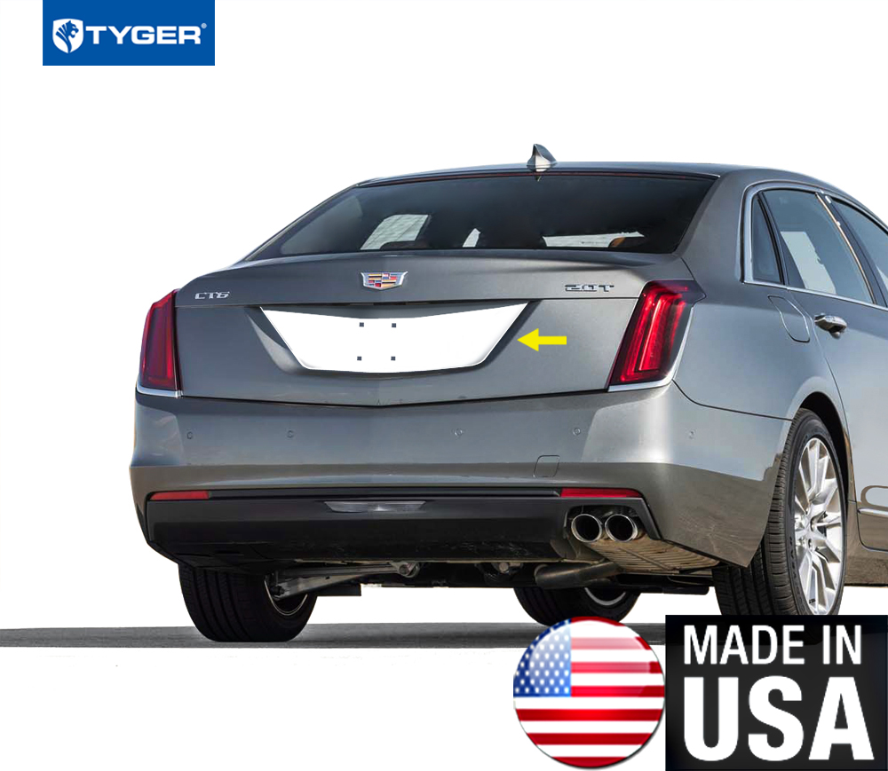 Fit 2016-2019 Cadillac CT6 Stainless Steel Chrome License